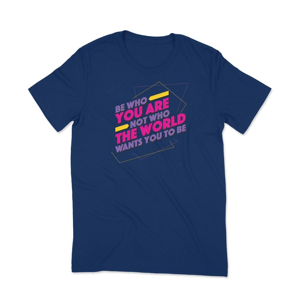 Be Who You Are : T shirt websites India T Shirt Leoliy S Navi Blue