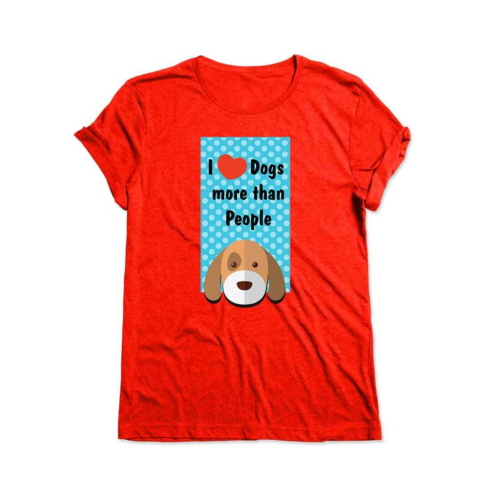 I Love My Dog : Red t shirt for men T Shirt Leoliy S Red
