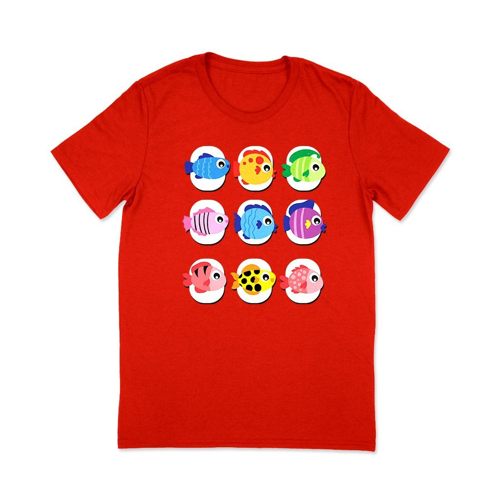 Colourful Fishes : Trending t shirts T Shirt Leoliy S Red