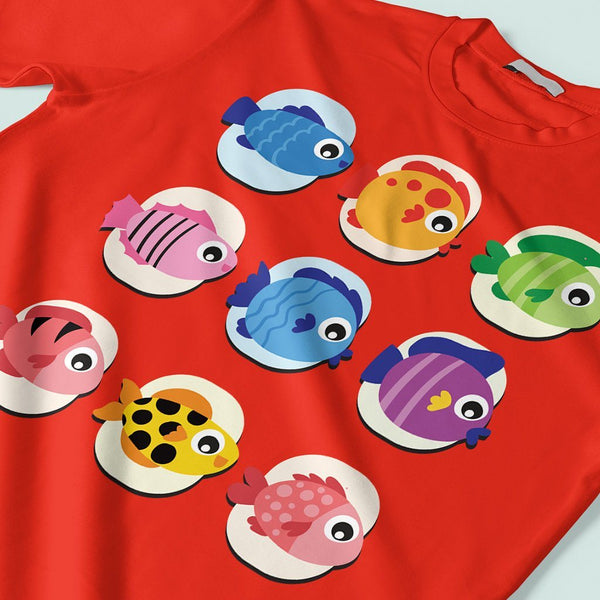 Colourful Fishes : Trending t shirts T Shirt Leoliy