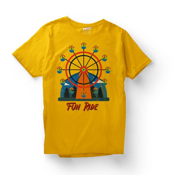 Fun Ride : Mens casual t shirts T Shirt Leoliy S Yellow