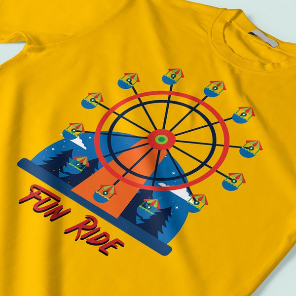 Fun Ride : Mens casual t shirts T Shirt Leoliy