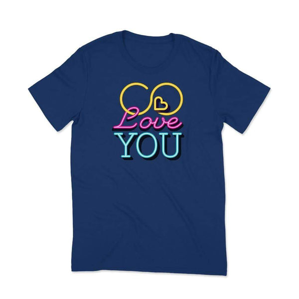 Love You : Valentine couple t shirt T Shirt Leoliy S Navi Blue