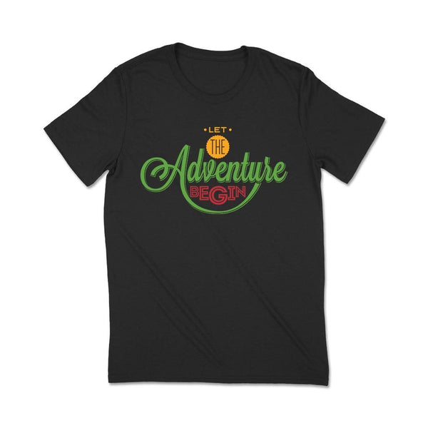 Slogan Tshirts Womens : Adventure T Shirt Leoliy S Black