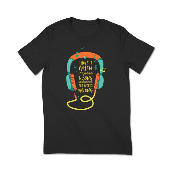 Music : T Shirt Custom india T Shirt Leoliy S Black