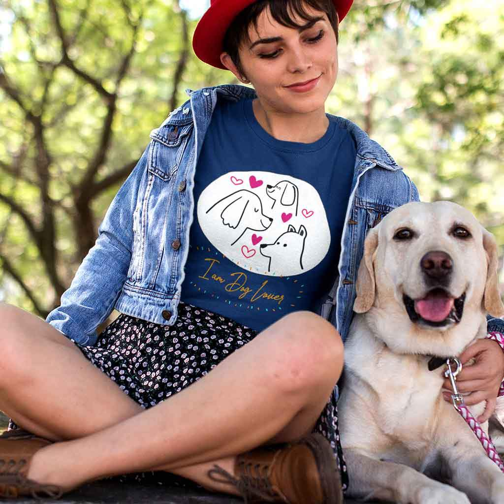 Dog print t-shirts womens T Shirt Leoliy