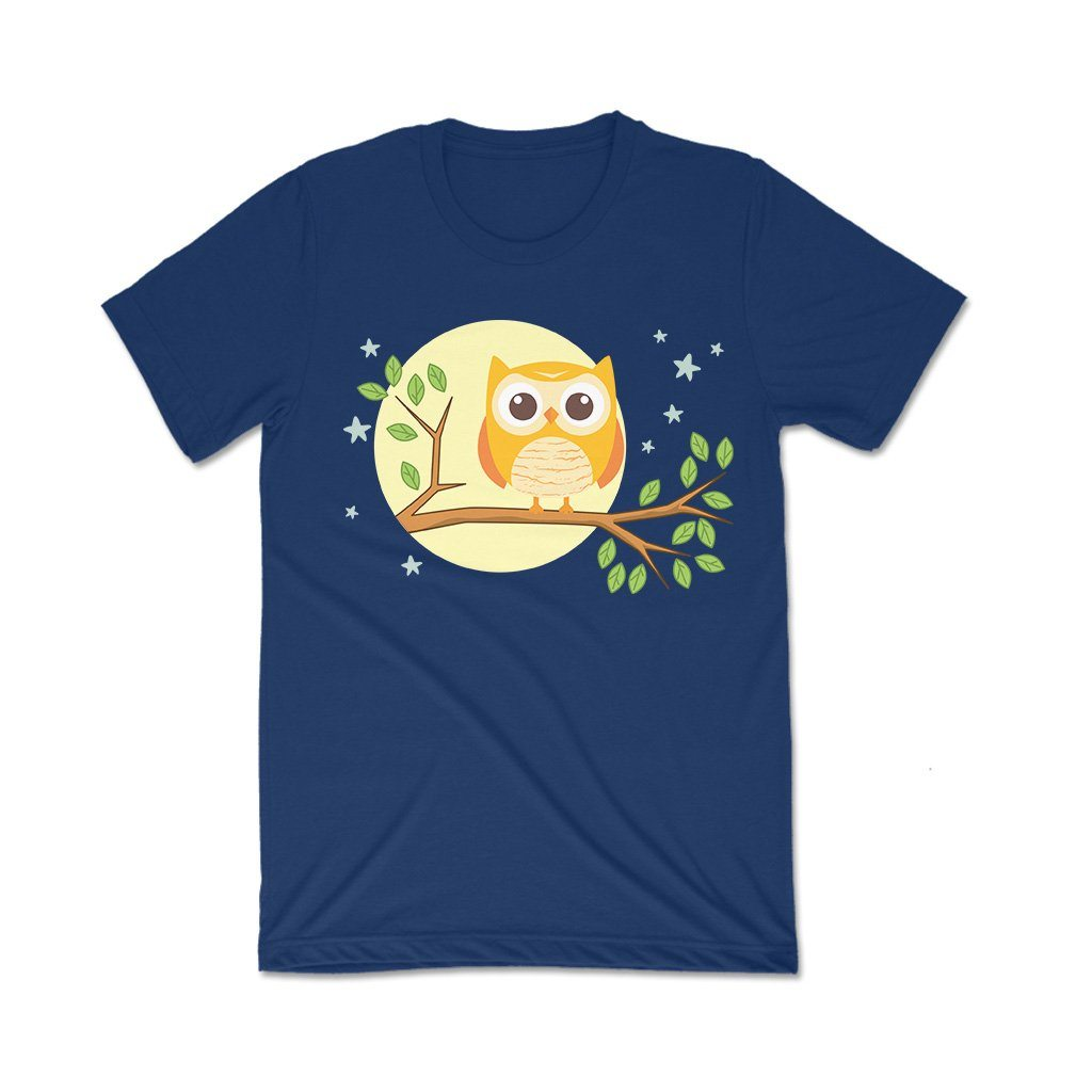 Owl : Women's graphic t shirts T Shirt Leoliy S Navi Blue