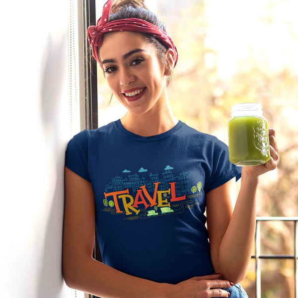 Women travel t shirt India T Shirt Leoliy