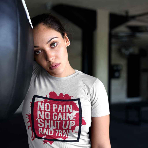 Women Gym t shirts quotes T Shirt Leoliy