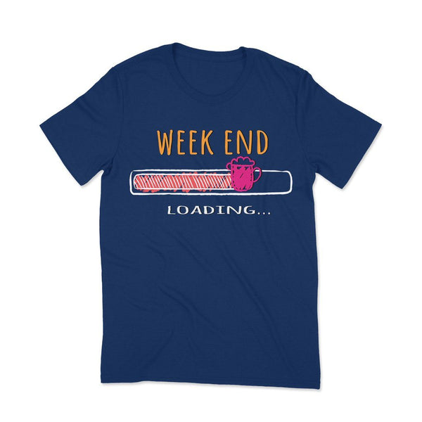 Weekend Loading : Cotton t shirts for women T Shirt Leoliy S Navi Blue