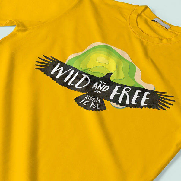 Wild and Free : Graphic t shirts T Shirt Leoliy