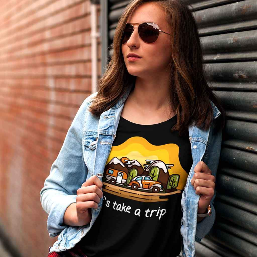 Travel Graphic t shirts T Shirt Leoliy