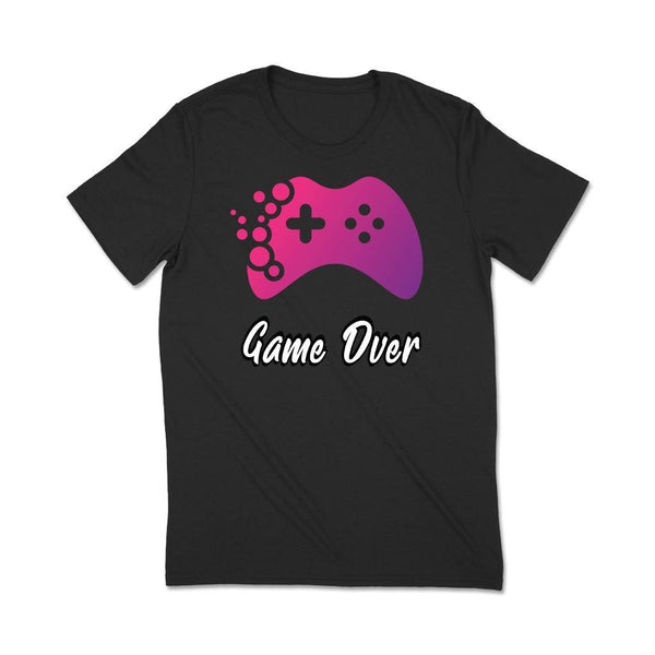 Gamer t shirt : Game Over T Shirt Leoliy S Black