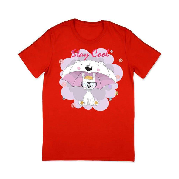 Stay Cool : Tshirt for girls T Shirt Leoliy S Red