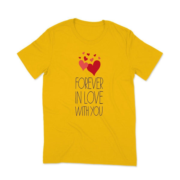 Forever Love : Couple t shirt in love T Shirt Leoliy S Yellow