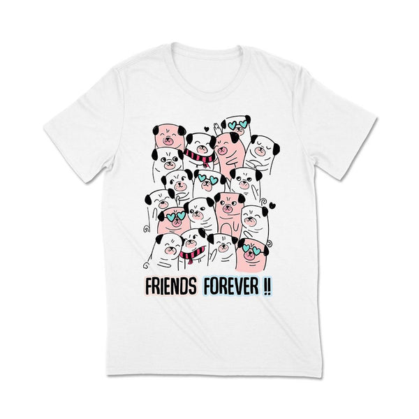 Best Friends Forever T Shirt Leoliy S White
