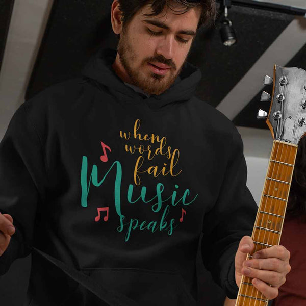 black-cool-hoodies-for-men--brands-of-a-guitarist-wearing-a-pullover-hoodie