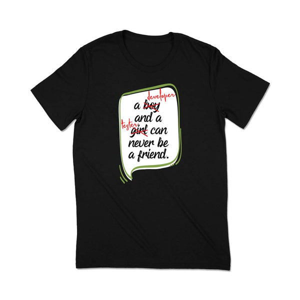 black-developer-t-shirt-of-a-happy-customer-with-a-cap-at-the-end-of-a-staircase