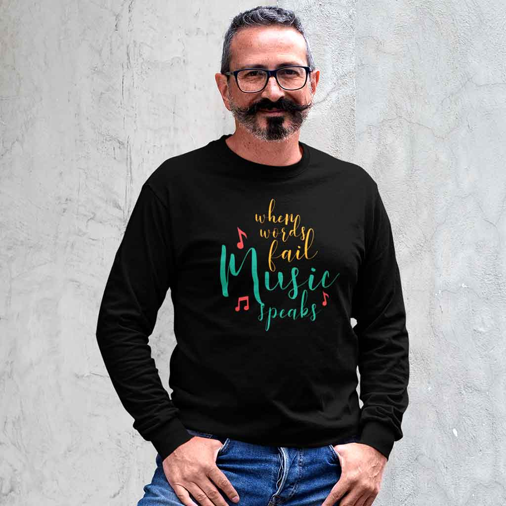 black-full-sleeve-t-shirt-brands-of-a-middle-aged-bearded-man-posing-by-some-steps