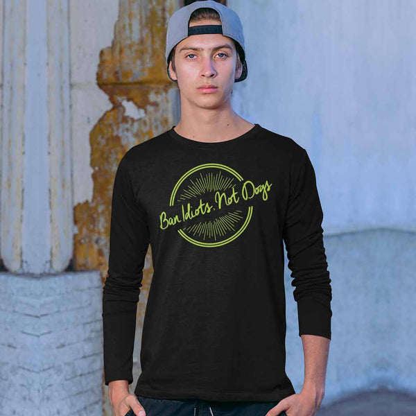 black-full-sleeve-t-shirts-round-neckfeaturing-a-man-in-an-urban-look