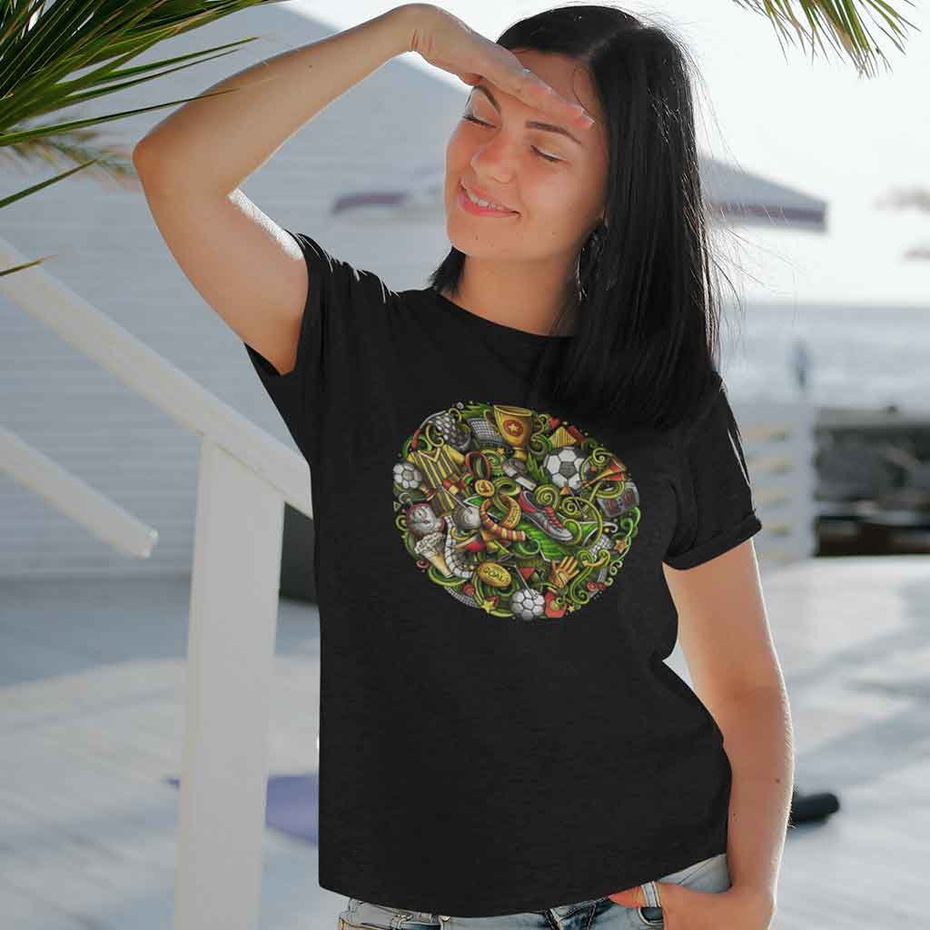 black-gaming-t-shirt-for-women-India