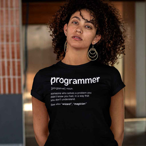 black-programming-t-shirt-featuring-a-serious-woman