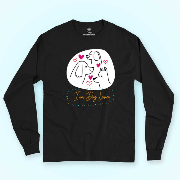 black-long-sleeve-tee-for-dog-lovers-holding