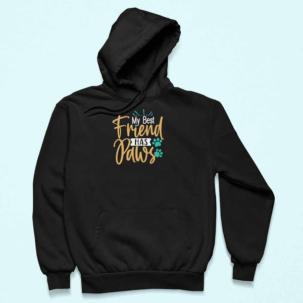 My Best friends has paws hoodie for men