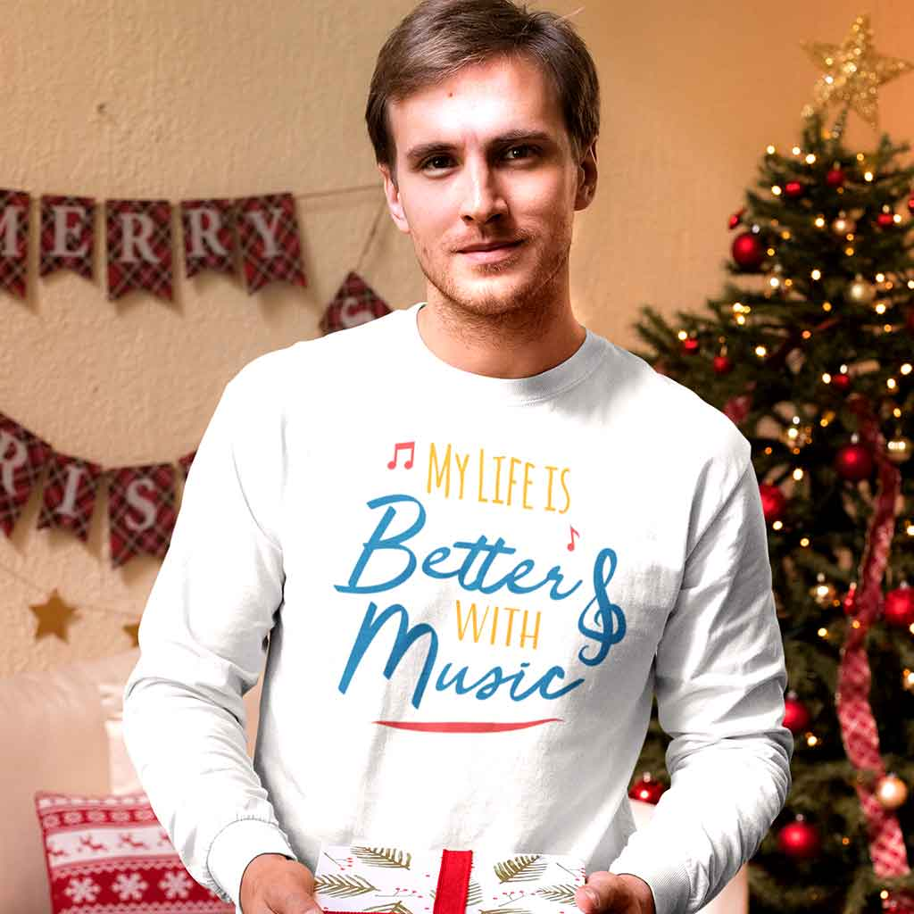 full-sleeve-t-shirt-white-of-a-man-holding-a-christmas-gift