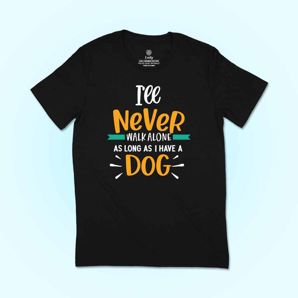 happy-asian-man-wearing-a-round-neck-black-dog-lovers-tshirt-template-while-in-the-street