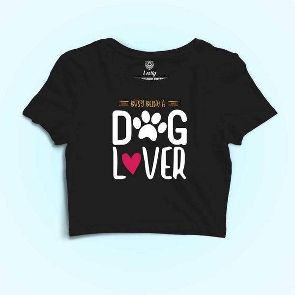 dog lover crop tshirt for women