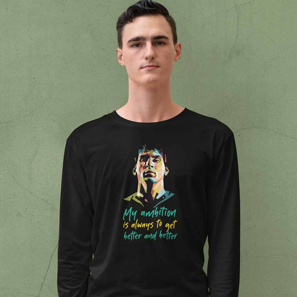 long-sleeve-tee-black-football-team-of-argentina-featuring-a-serious-young-man