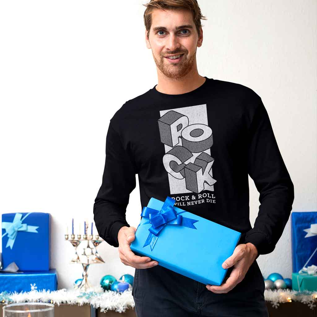 men-full-sleeve-t-shirt-of-a-man-holding-a-present-at-a-celebration