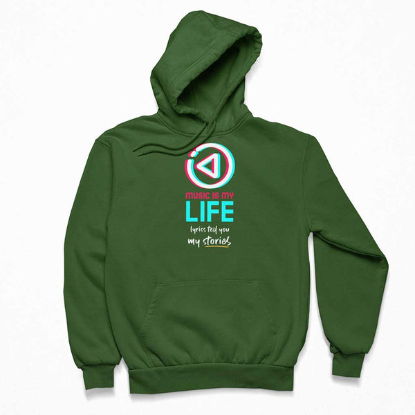 olive-green-best-hoodies-for-men-wearing-a-hoodie-in-the-woods