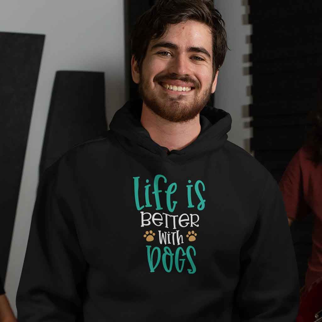 life is better with dogs premium hoodie