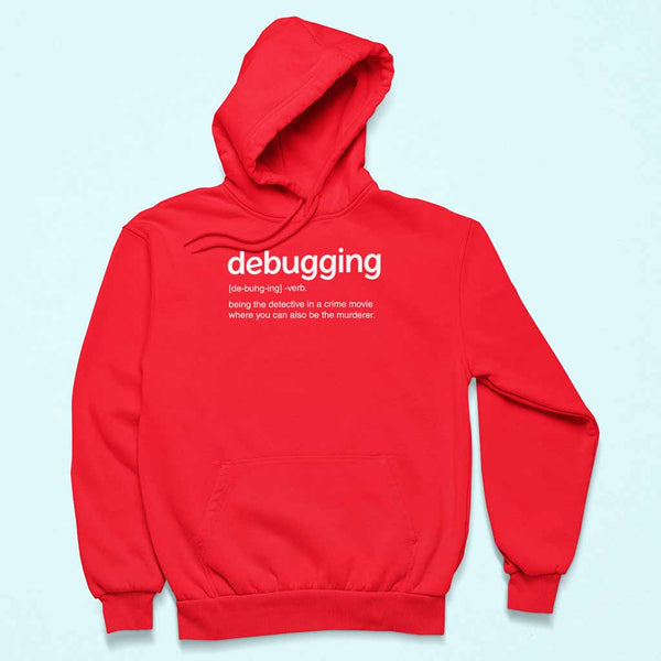 red-hoodie-t-shirt-for-developersof-a-pullover-hoodie-over-a-customizable-surface