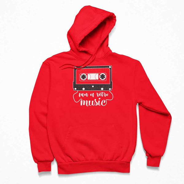 red-retro-music-of-a-pullover-hoodie-over-a-customizable-surface