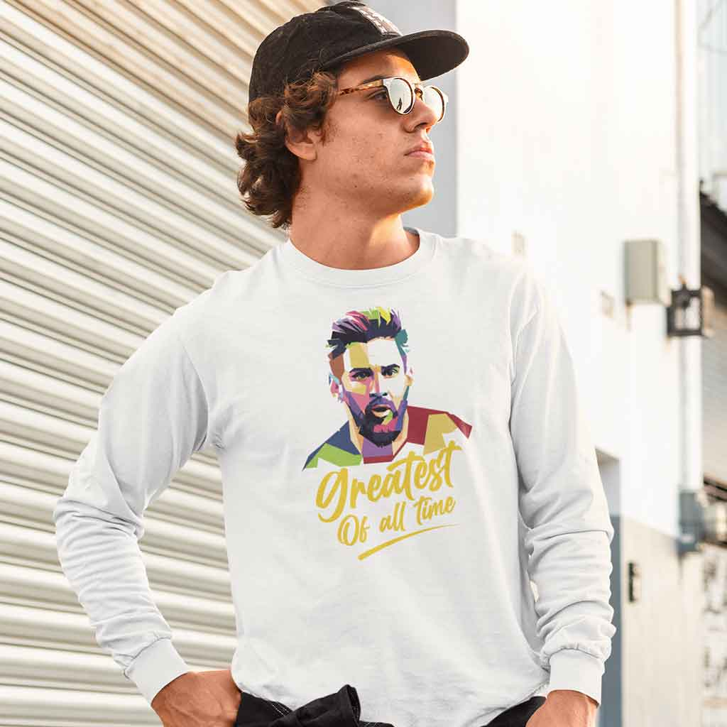 white-long-sleeve-tee-lionel-messi-barcelona-featuring-a-serious-man