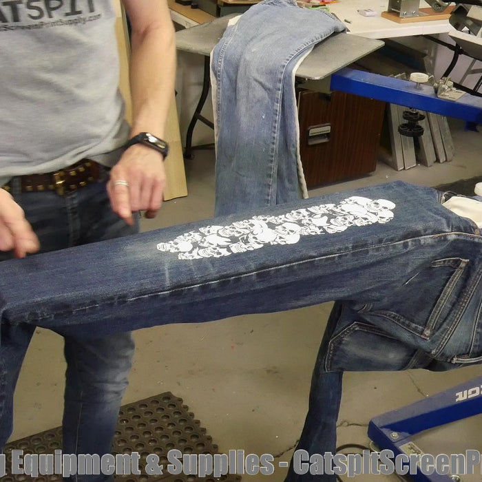 How To Screen Print Denim Jeans: Expanding On Sweat Pant Printing