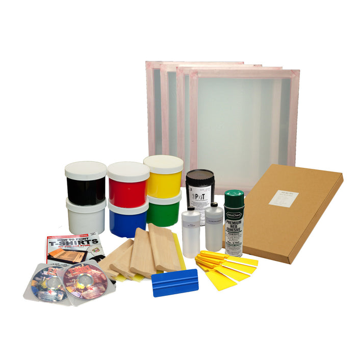 Snow Leopard Silk Screen Printing Kit