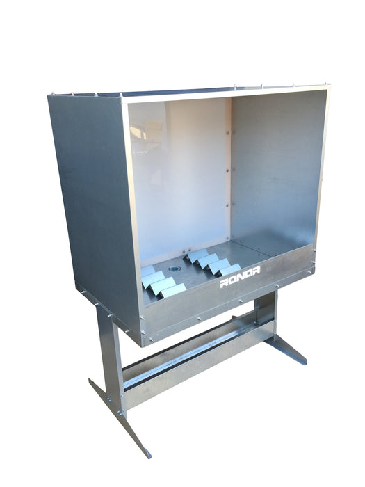 RANAR Econo Back Light XL Stainless Steel Washout Booth