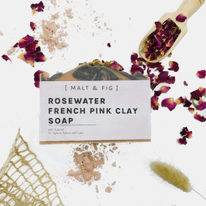 Rosewater & French Pink Clay Soap