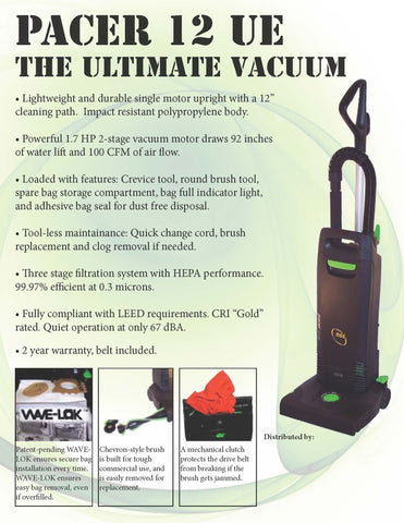 Pacer 12 15 Ue Availble In 12 Quot Or 15 Quot Wide Path