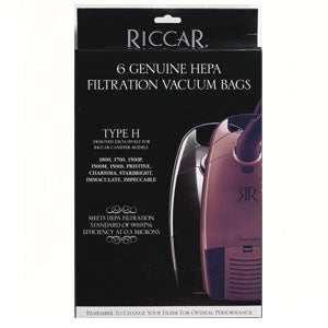 RHH-6 Riccar OEM HEPA Bag Pack of 6 Type H - MLvac.com