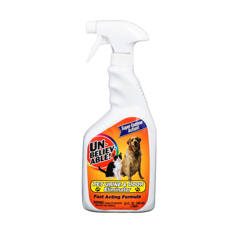 Unbelievable Pet Urine and Odor Eliminator Spray, Enzyme Active, 32 Ounce / 946 ml - MLvac.com