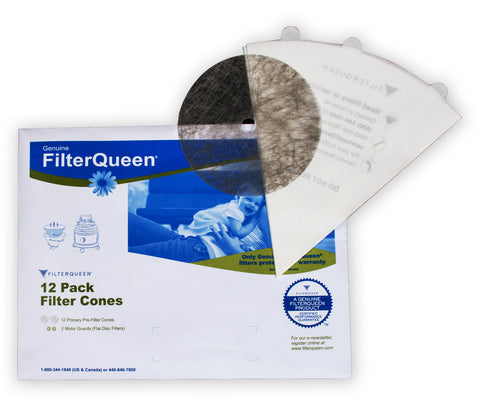 XFQ100 ORIGINAL FILTER QUEEN OEM FILTER CONE, 12 PACK