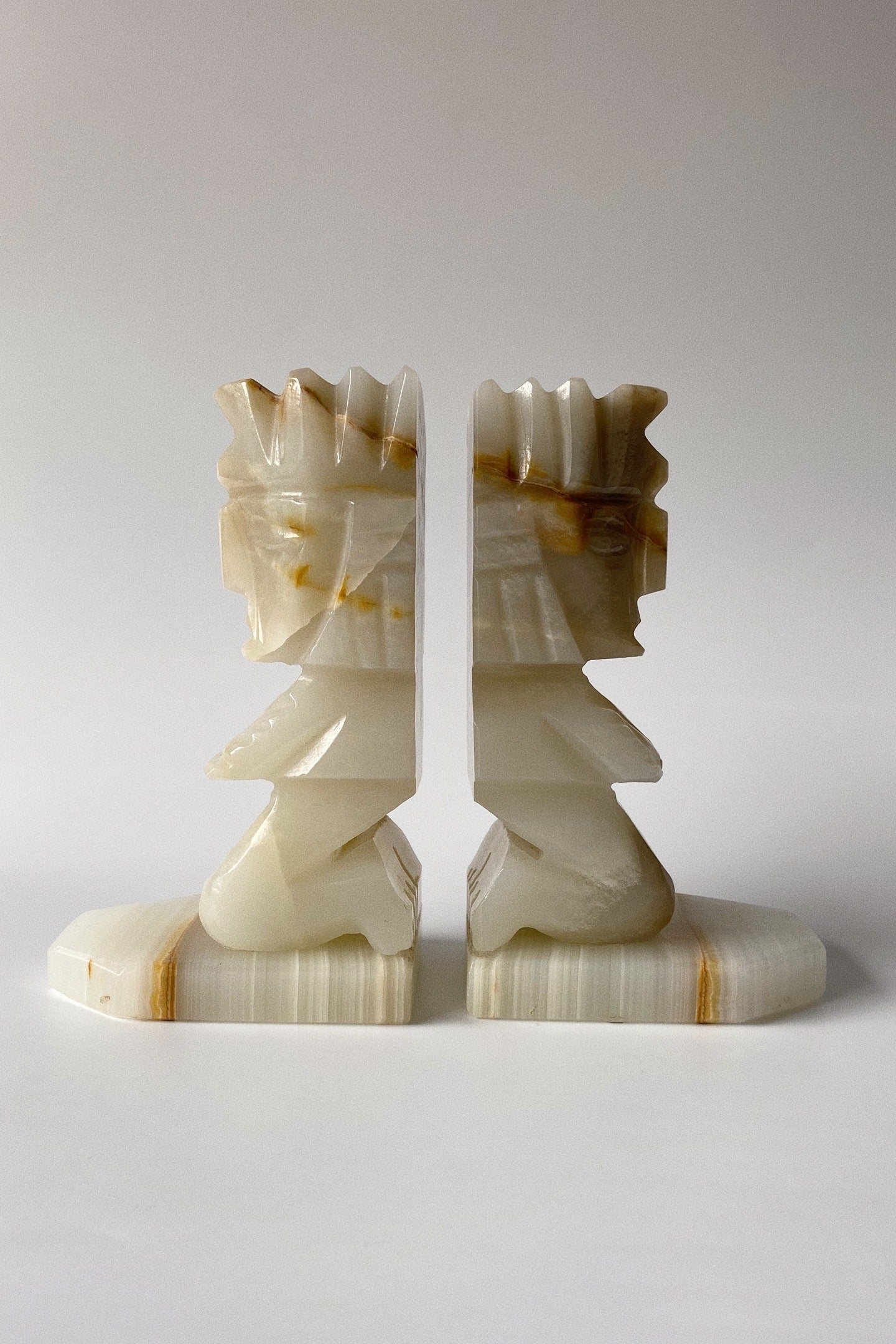 Alabaster Stone Bookends