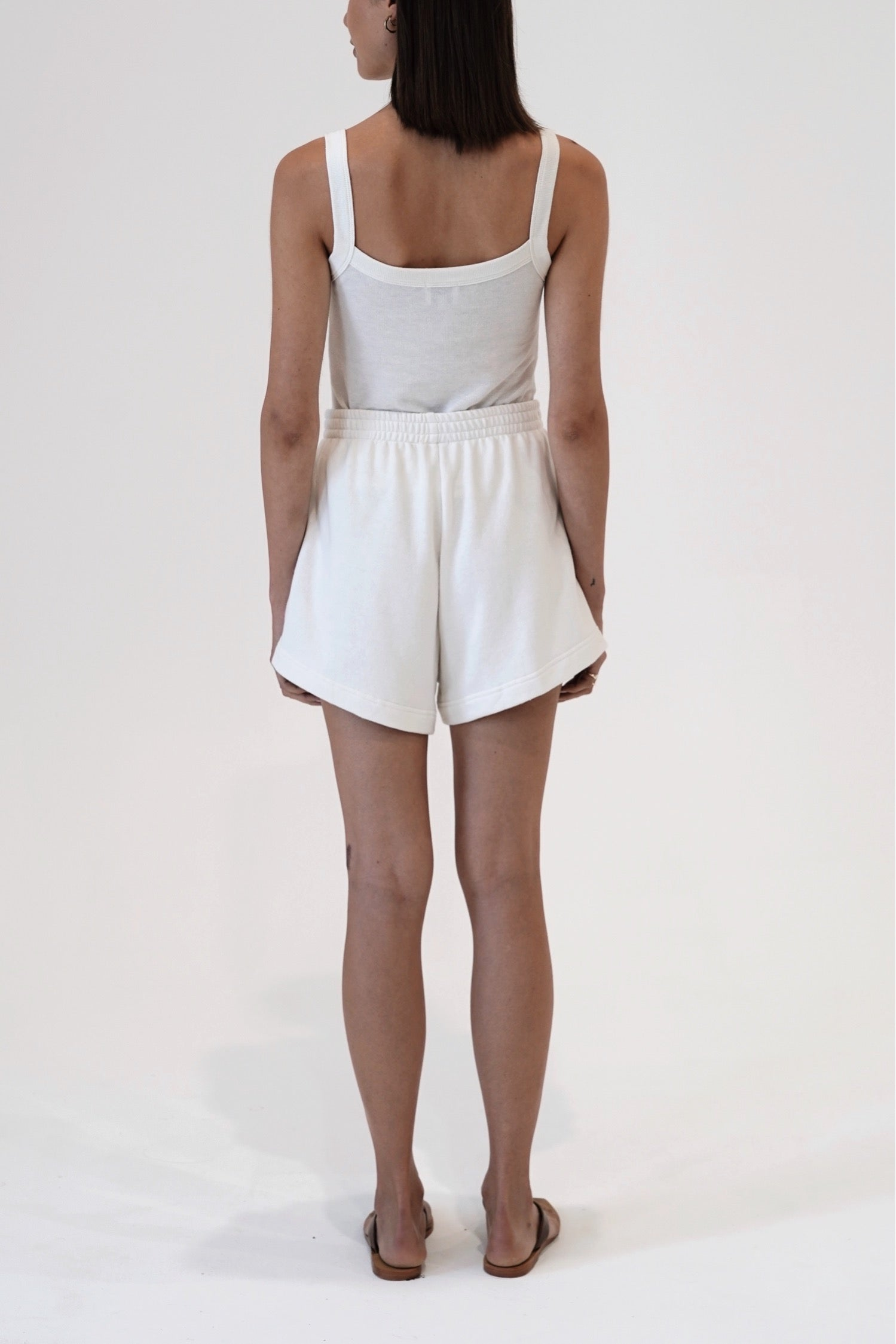 Hemp Terry Short Off White