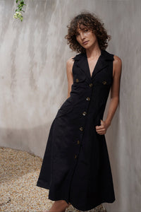 DENIM DRESS BLACK