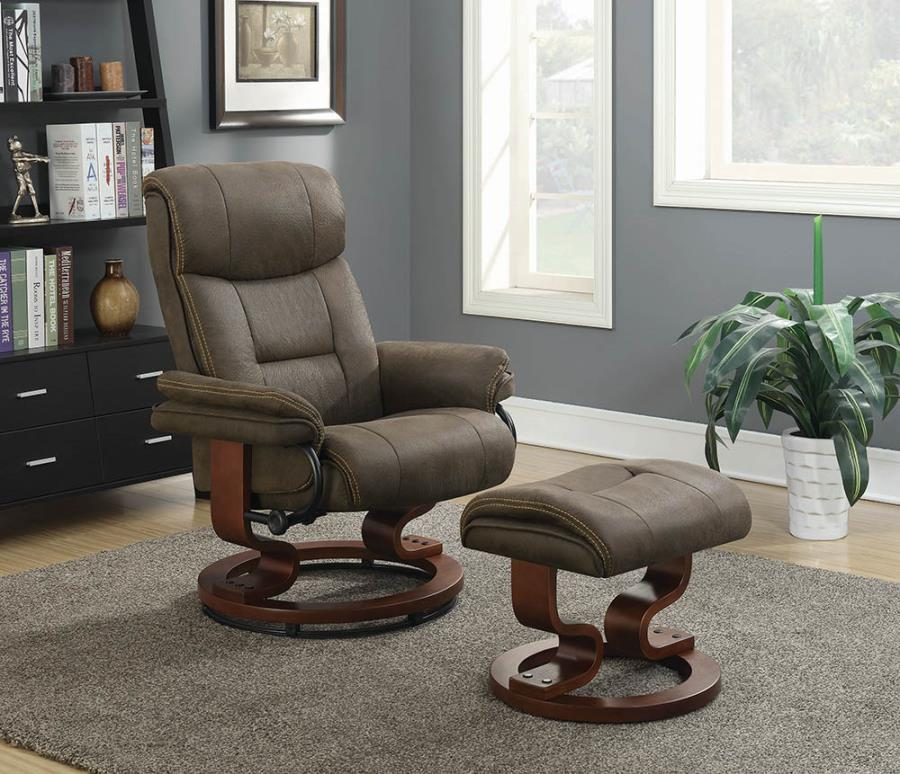600435 CHAIR WITH OTTOMAN